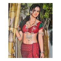 Индианка у бамбука