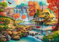 Старинный домик у водопада